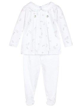 Babidu Babyset met top en broek met wolkenprint – roze