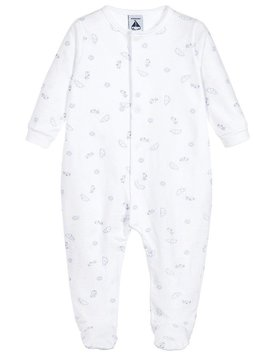 Babidu Babysuit with clouds - grey