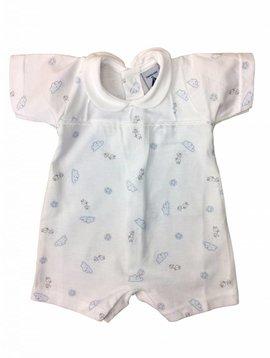 Babidu Babysuit with clouds - blue