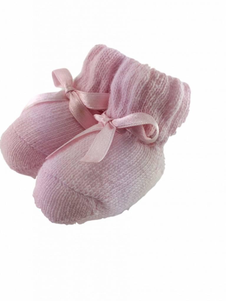 Paolo Romboli Babyslofjes strikje – roze
