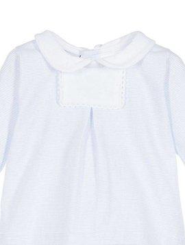 Babidu Blauw wit gestreepte babyset - babytop met broek