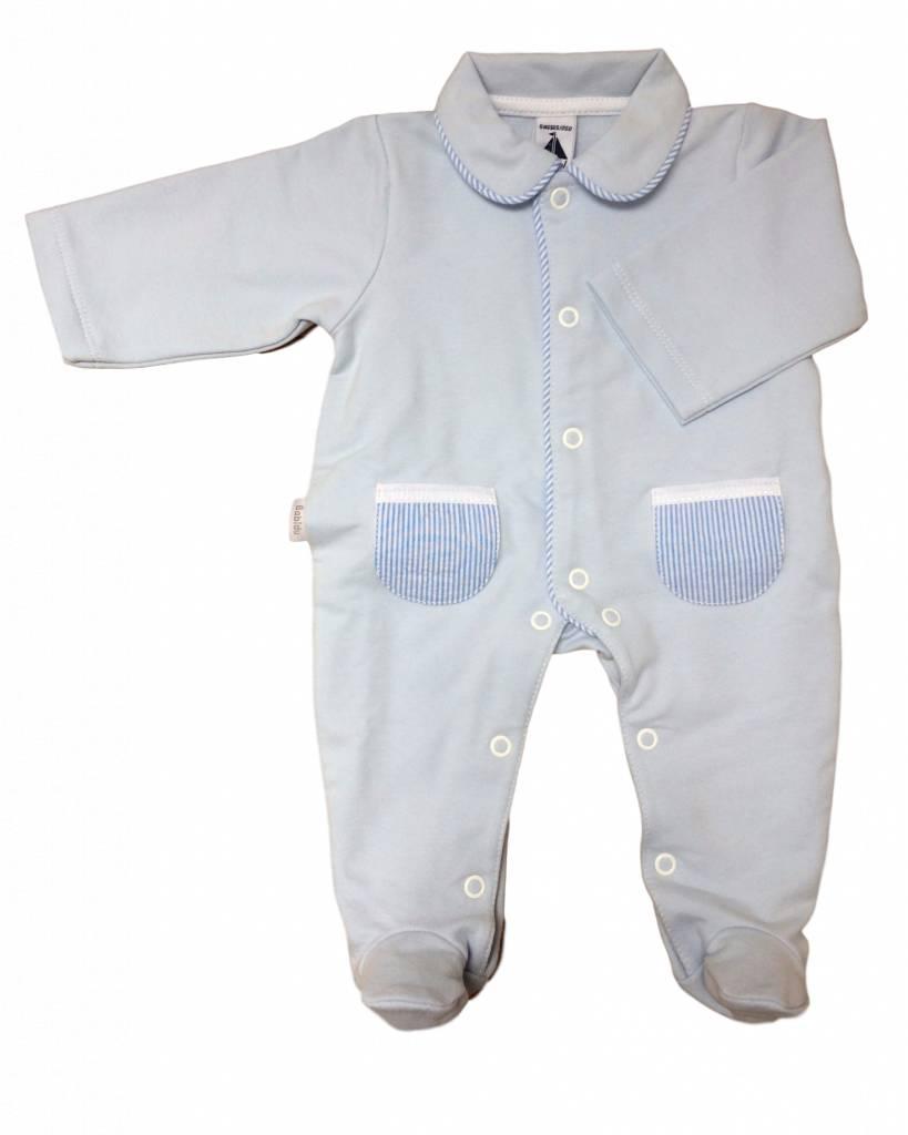 Babidu Babypakje met blauw wit gestreepte zakjes