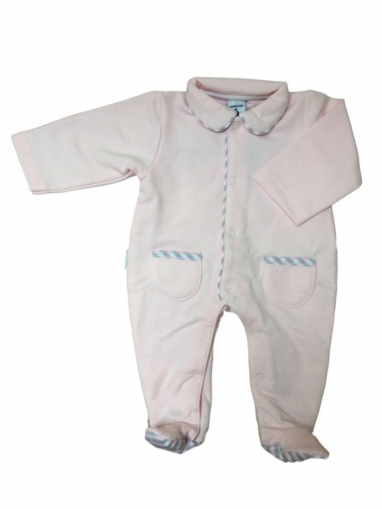 Babidu Babypakje roze met geruite kraag