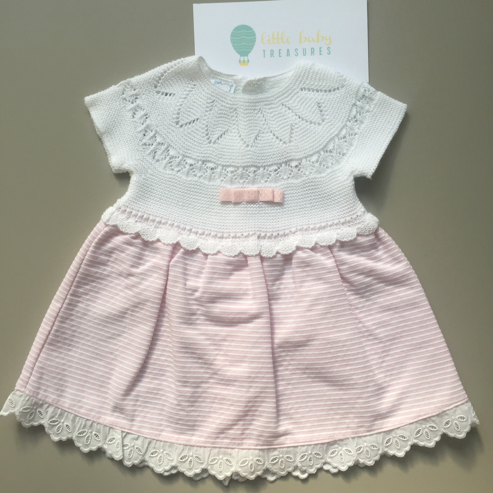 Macilusion dress pink stripes