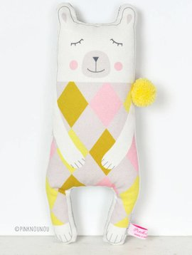 PinkNounou Mr Pom Pom Polar Bear knuffel