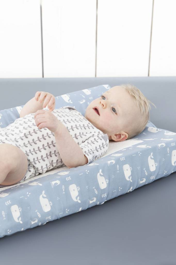 Fresk Changing pad cover Whale blue fog