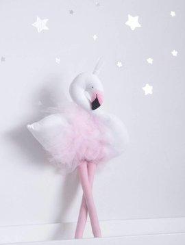 Ilka Handmade Knuffel Mevrouw Melodie Flamingo