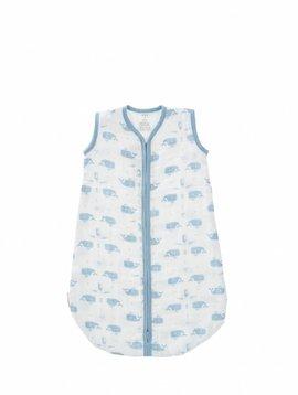 Fresk Sleeping bag muslin 2-layers white Whale blue fog