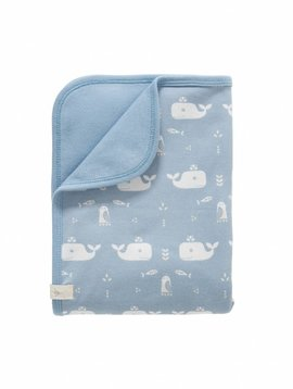 Fresk Baby blanket Whale blue fog