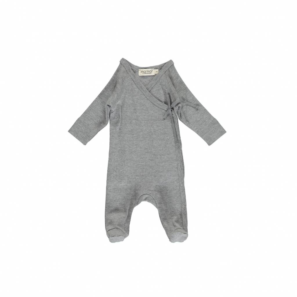 MarMar Copenhagen Rubetta modal new born jumpsuit –  grijs / grey mélange