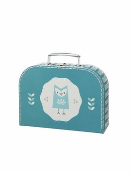 Fresk Suitcase Owl blue small