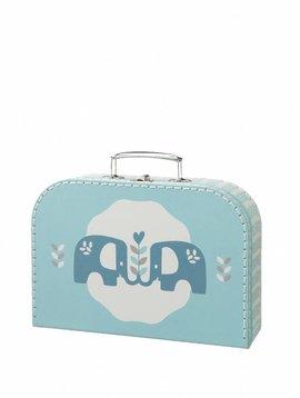 Fresk Koffertje Elefant blue groot
