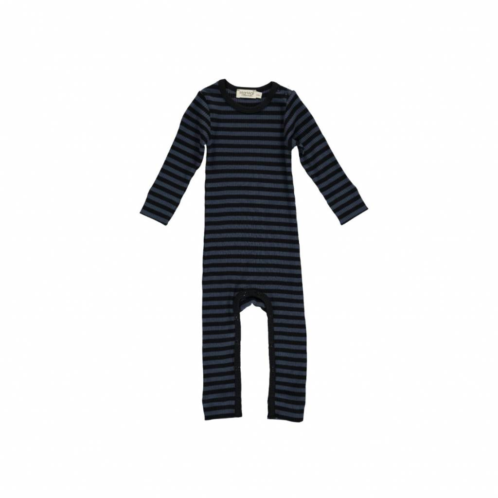 MarMar Copenhagen Stripes Jumpsuit black-blue / ombre-blue