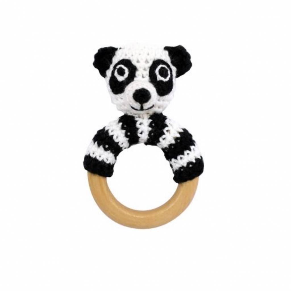 Sindibaba Ring rattle panda