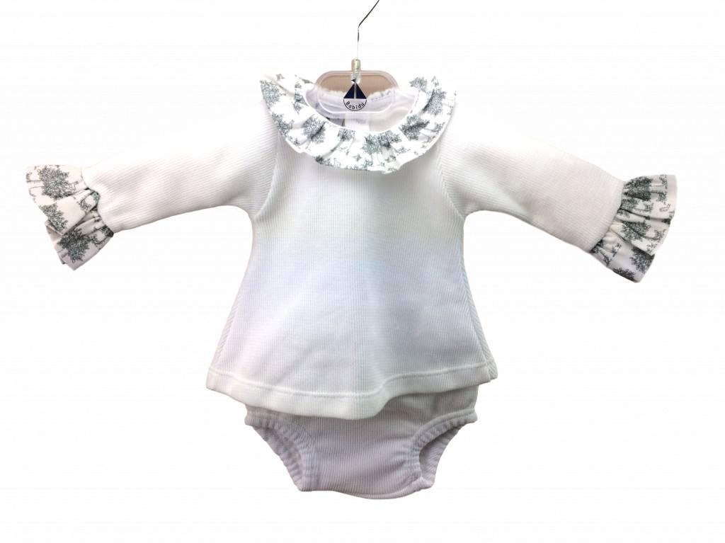 Babidu Babypakje met rouches aan arm en kraag