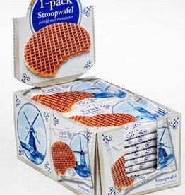 Delft Blue Stroopwafel Experience 1-pack Delft Blue stroopwafels