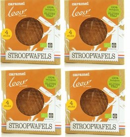 Biologische glutenvrije caramel stroopwafels (4x4)