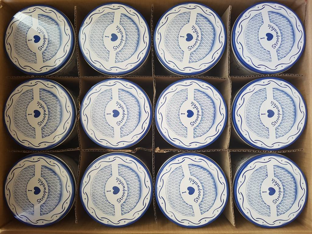 Stroopwafel blikken Delfts Blauw (12 blikken)