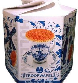 Stroopwafel Unique Delfts in Delft Blue Hexa Box