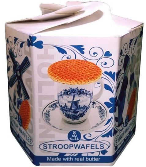 Stroopwafel Delfts blauwe Hexa box (9x)