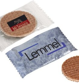 Mini stroopwafeltjes with your logo (2500)