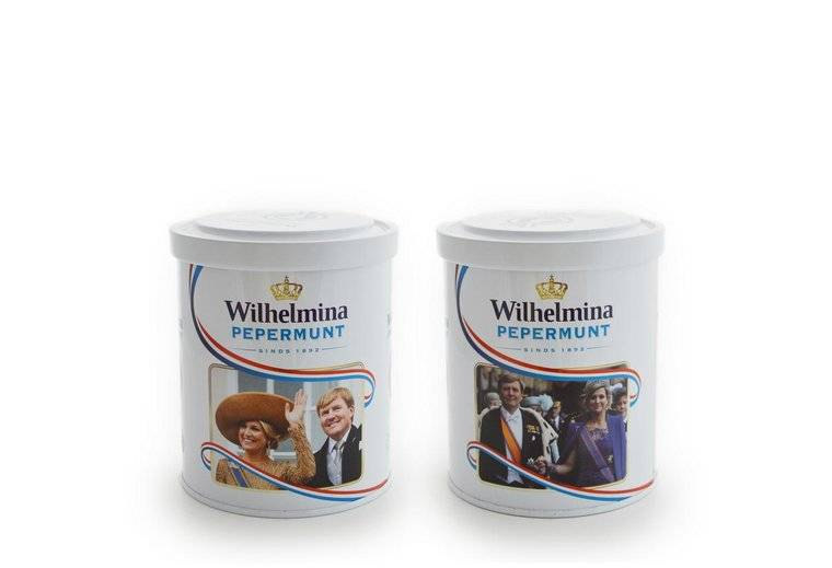 Wilhelmina Pepermunt Bewaarblik Box