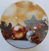 Dutch Christmas tin including stroopwafels present