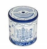 Delft blue stroopwafel tin