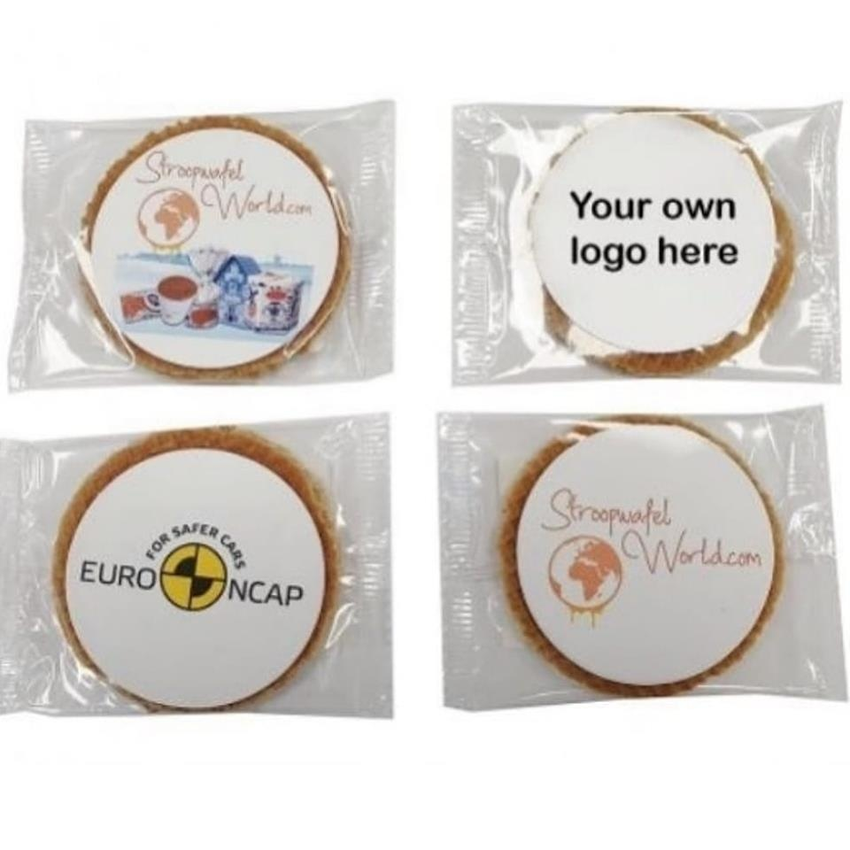 Single Stroopwafel box with logo (100 stroopwafels)