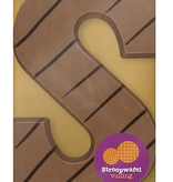 Luxe stroopwafel chocolade letter