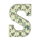 Luxe delft blue chocolade letter S
