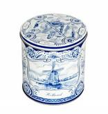 Delft blue syrupwaffle tin