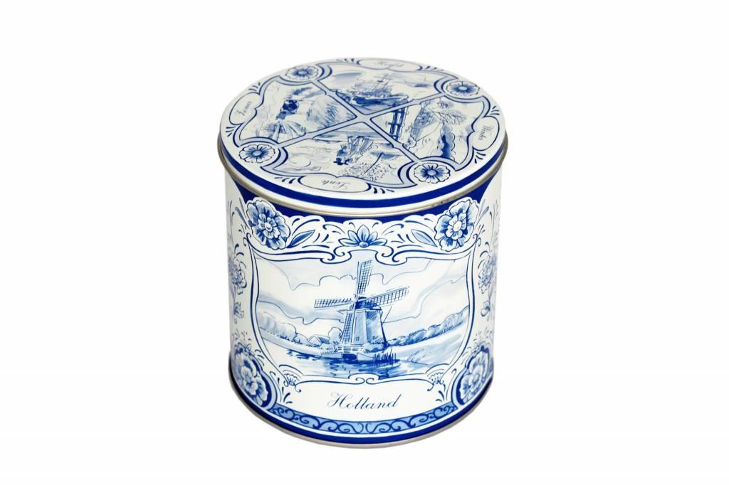 Delfts blauw stroopwafel blik