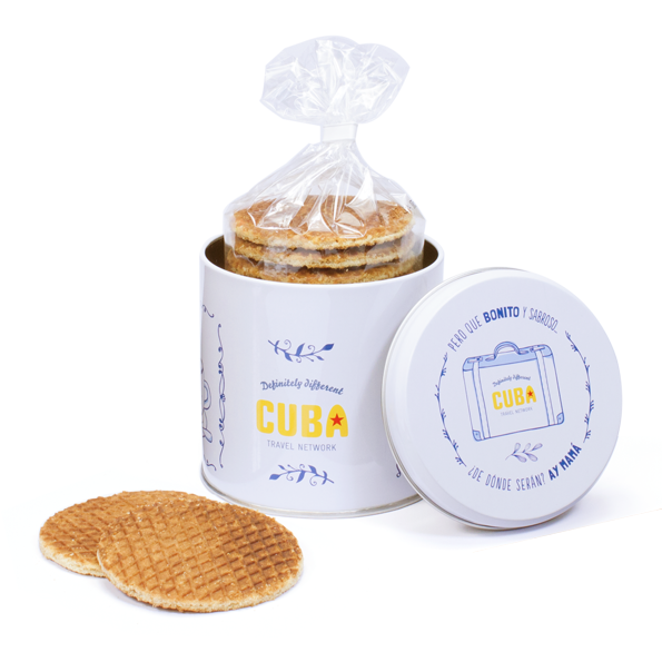 Stroopwafel tin own branding