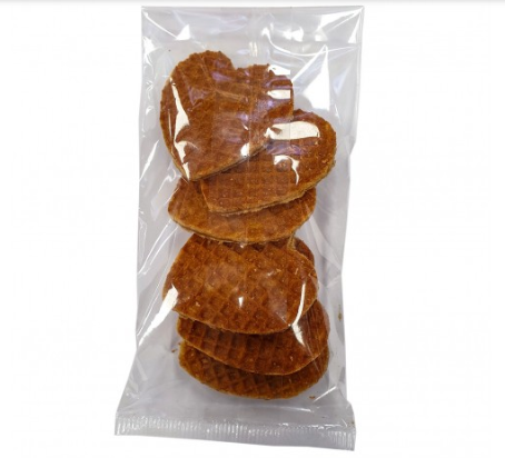Stroopwafel harten (6x)