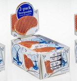 Delft Blue Stroopwafel Experience Tripple displaybox Delft blue duo-packs