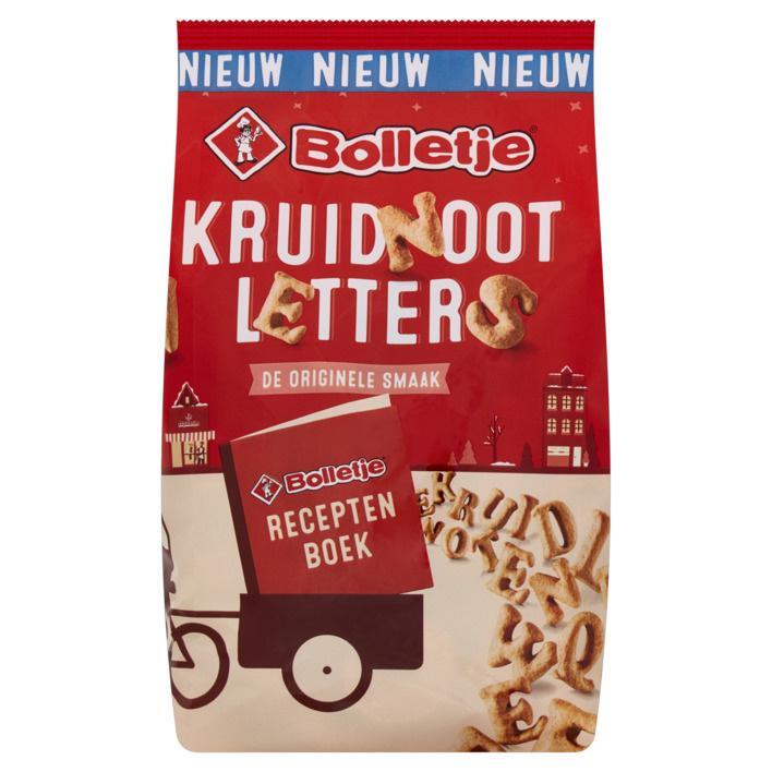 Bolletje (NIEUW) Bolletje kruidnoot letters (200 gram)