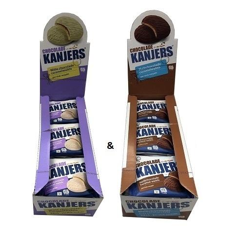 Kanjers kanjers white and milk chocolate displaybox