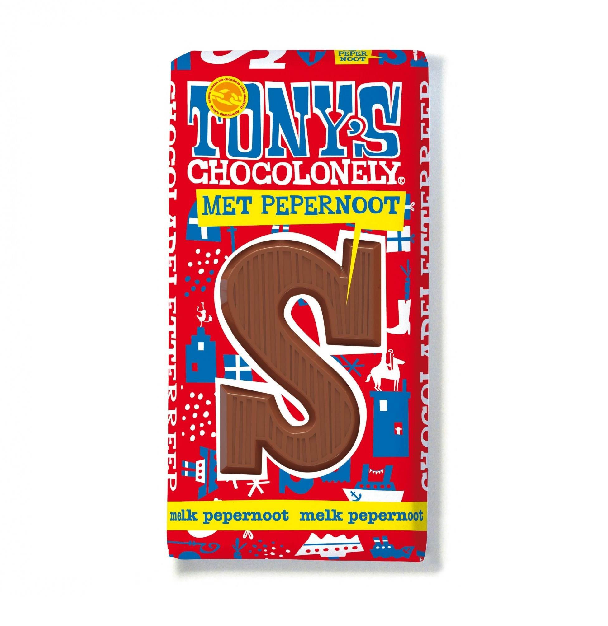 Tony's Chocolonely chocolate letters Melk pepernoot