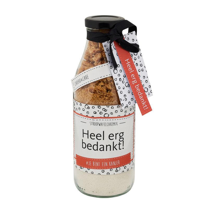 Stroopwafel Cakemix - HEEL ERG BEDANKT! - 380 G