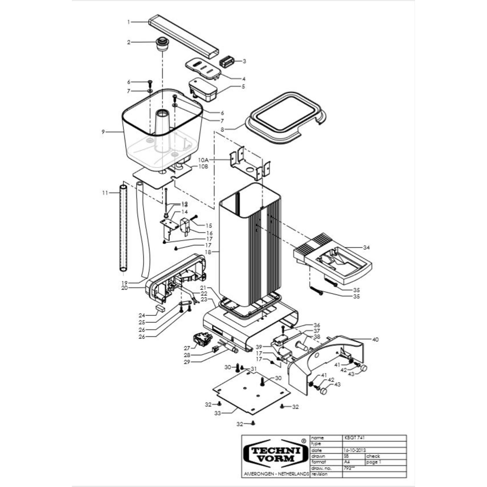 Moccamaster KBG Select Brushed  ( mat chroom )