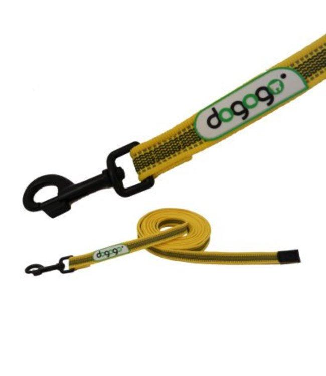 Dogogo Dogog antislip riem zonder handvat in div. lengtes en breedtes, geel