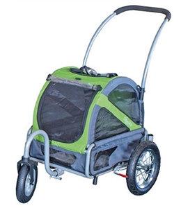 Doggy Ride Mini hondenbuggy, groen/grijs