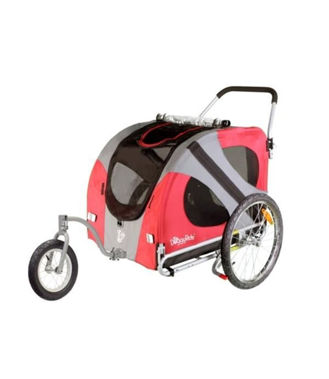 Doggy Ride Original Jogger wandel wagen, rood