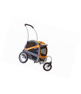 Doggy Ride Mini hondenbuggy, oranje/grijs