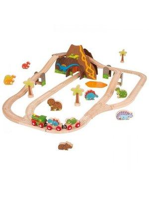 BigJigs Bigjigs - Rails - Dinosaurus treinset