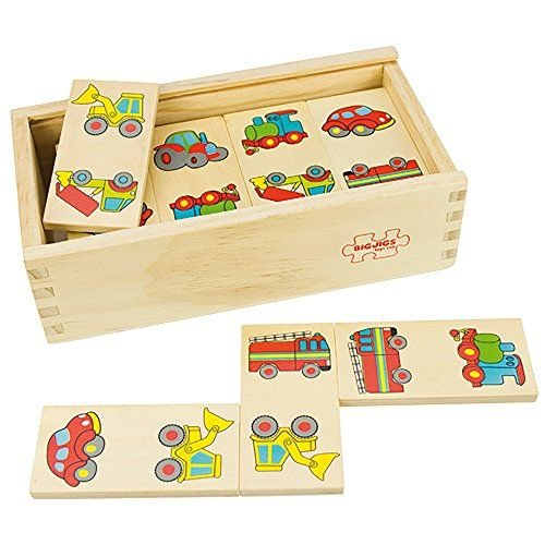 BigJigs Spel - Domino - Transport