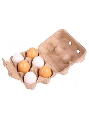 BigJigs Speelgoedeten - Eieren - 6dlg. - In doosje