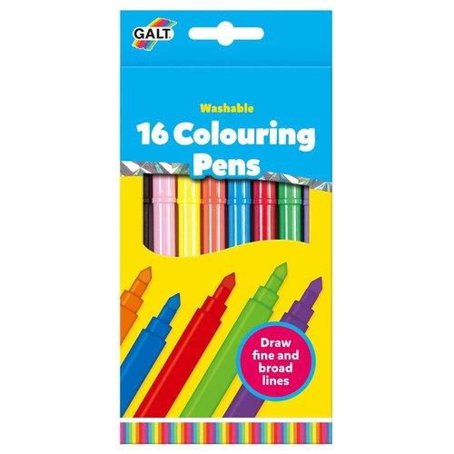 Galt Stiften - Viltstiften - Gekleurd - 16dlg.