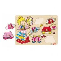 Goki - Aankleedpuzzel - Prinses